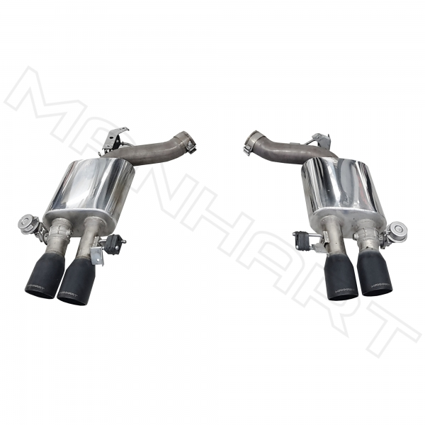 MANHART Slip-on Sport Exhaust BMW F06 / F12 / F13 M6 (Competition) with Valve Control & 4x100 mm Tailpipes