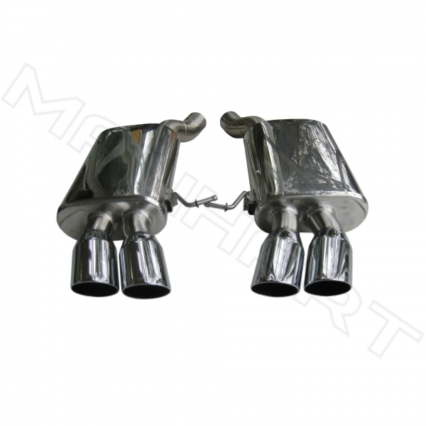 MANHART Slip-on Race Exhaust BMW F06 / F12 / F13 6-Series with 4x90 mm Tailpipes