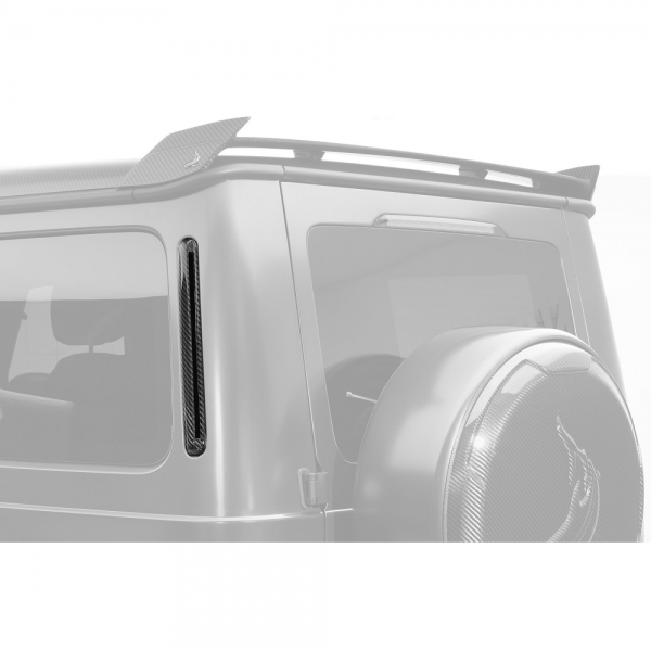 TopCar Design Part 22 Two-piece Carbon Rear C-pillar Cover Mercedes G-Class Inferno