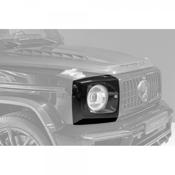 TopCar Design Part 6 Two-piece Carbon Headlight Protection Cover Mercedes G-Class Inferno