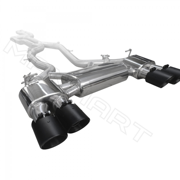 Manhart Performance rear silencer with valve control