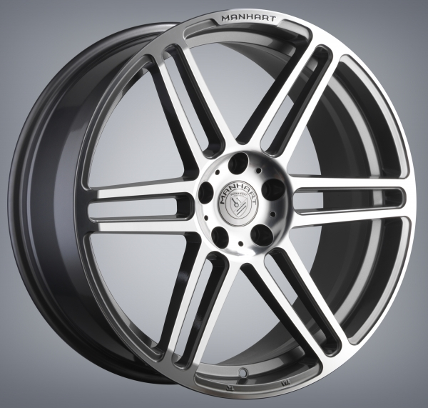 Single Concave One Rim - Gunmetal Gray / Diamond Polished - 22 Inch / 10.5x22 / LK 5x120